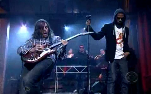 "Kid Cudi & Ratatat Bring ""Pursuit Of Happiness"" To Letterman"