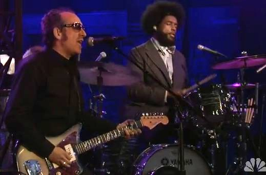 Elvis Costello Jams With The Roots, Colbert