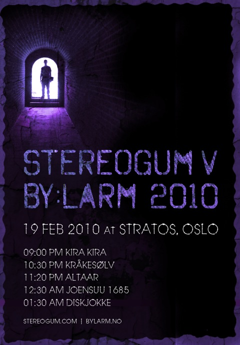 Stereogum v by:Larm 2010 Lineup