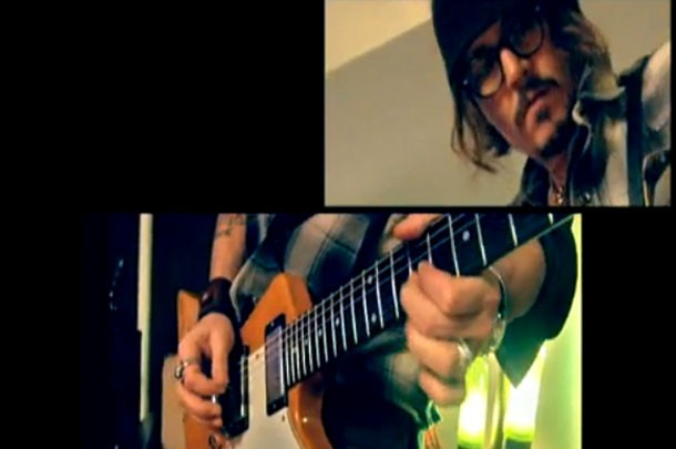 Johnny Depp Soloing For Haiti