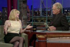 Courtney Love On Letterman Video