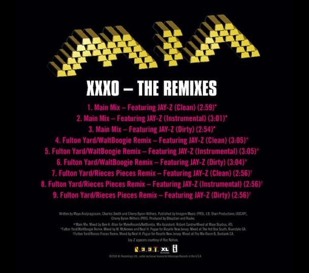 """M.I.A. – """"XXXO (Remix Feat. Jay-Z)"""""""