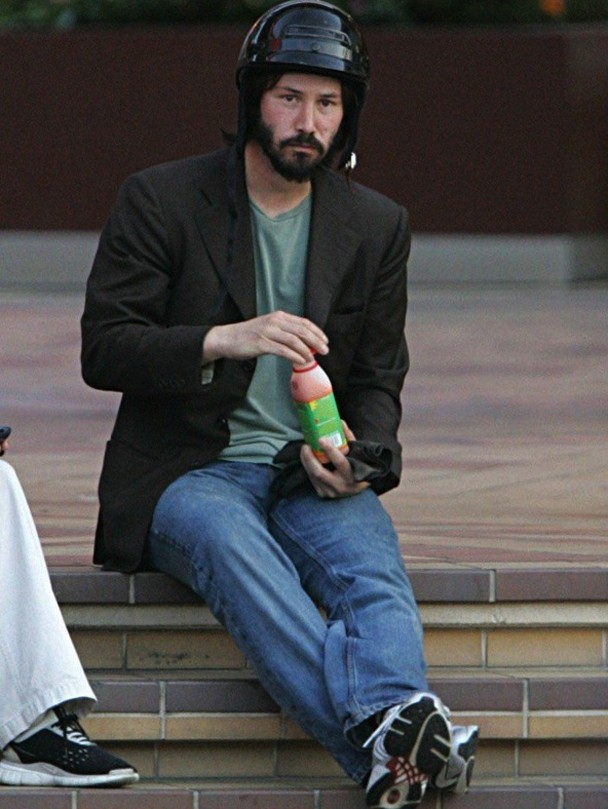 The Return Of Sad Keanu, Now With Protective Helmet -4812