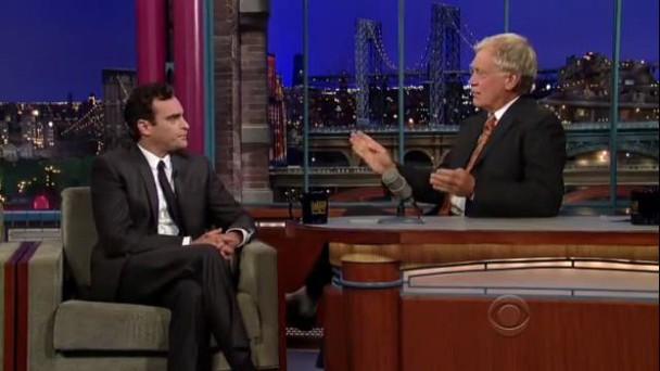 Joaquin Phoenix On Letterman
