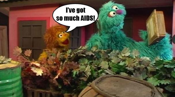 Sesame Street Nigeria AIDS Muppet