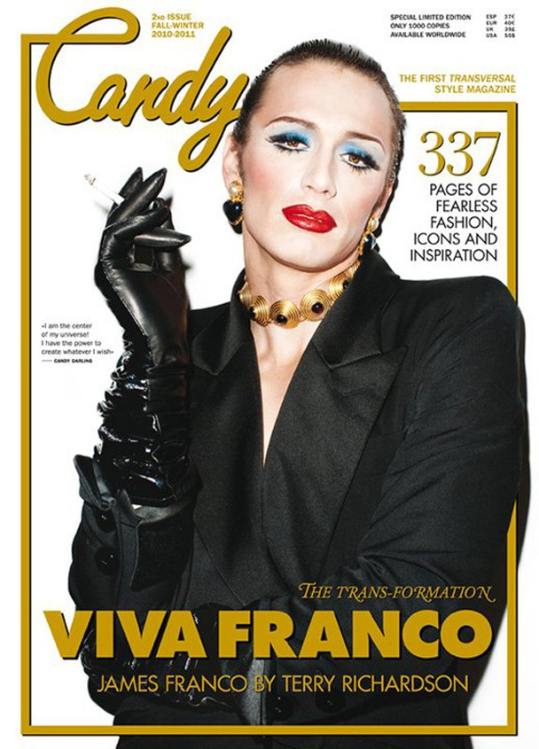 James Franco In Drag Candy Magazine
