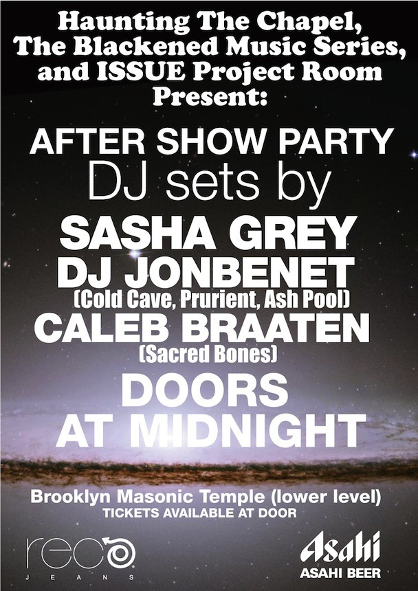 Masonic Temple Afterparty Featuring Sasha Grey
