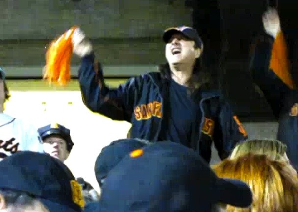 Steve Perry Sings Along At Giants Game