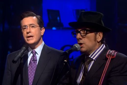 Video Of Elvis Costello On Colbert & Fallon, Video Of Elvis Costello's Dad Singing In '64