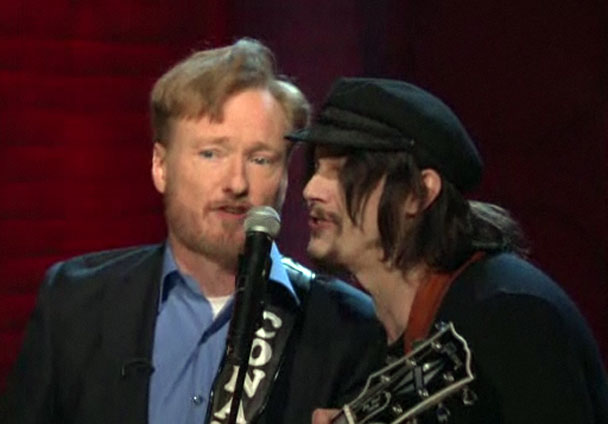 Jack White Plays <em>Conan</em> Premiere, With Conan