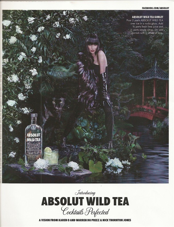 Karen O Absolute Vodka