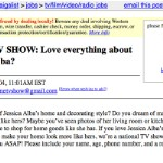 This is Your Post On Craigslist (
