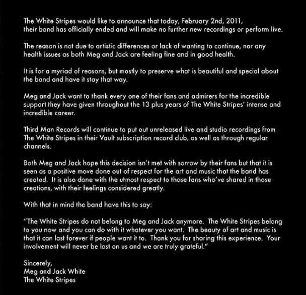 The White Stripes Statement
