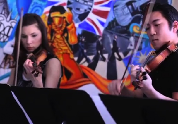 "Hipster Orchestra Covers ""Under Cover Of Darkness"""