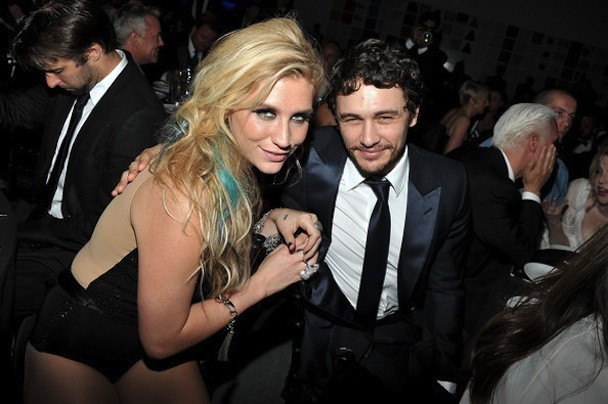 James Franco and Kesha - 2nd Annual amfAR Inspiration Gala New York - Inside-7