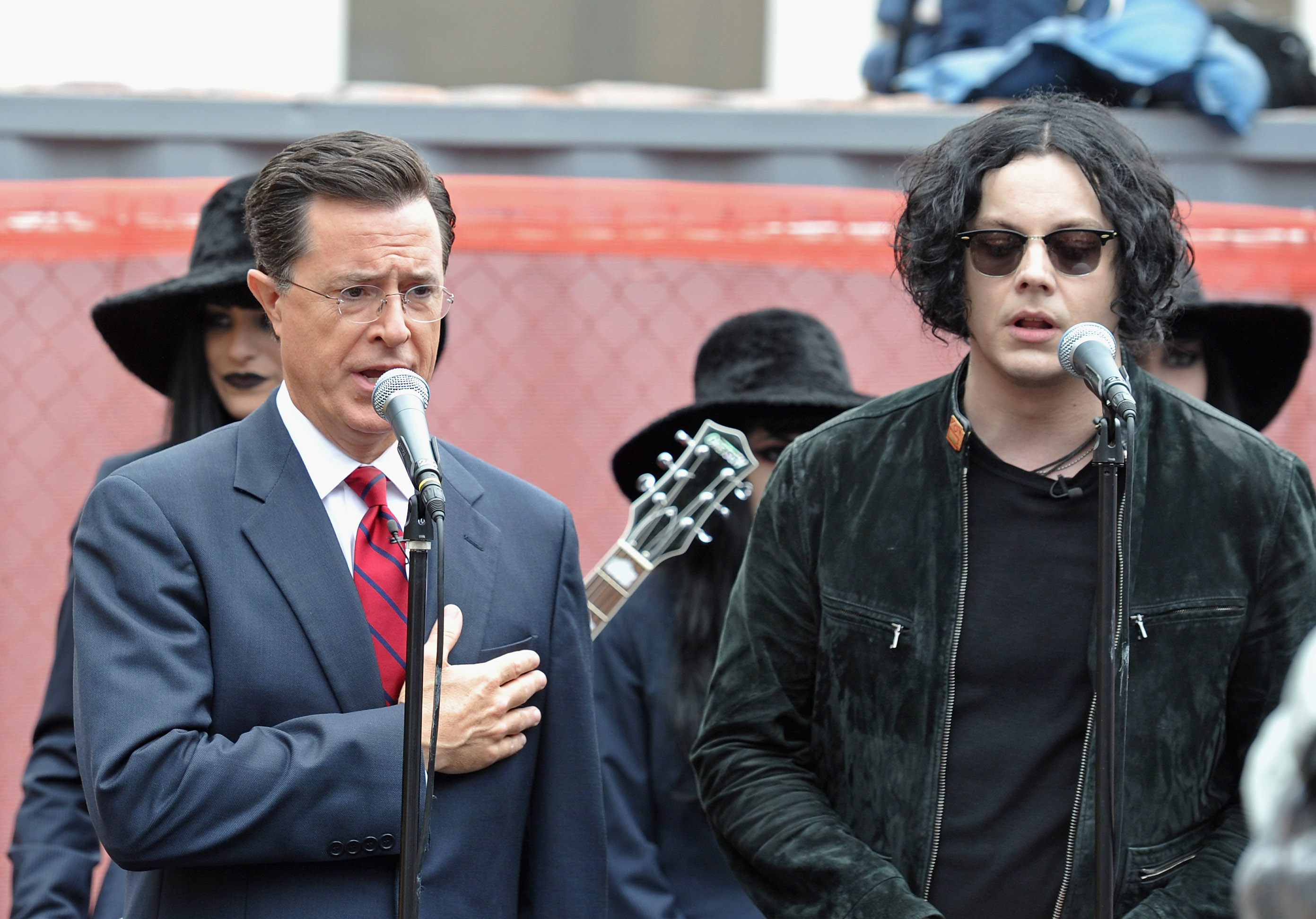 Jack White & Stephen Colbert In NYC: Photos, Video