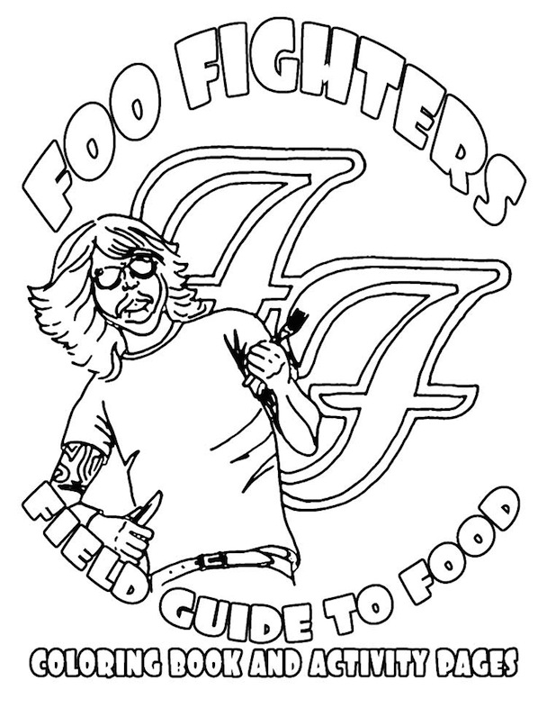 Foo Fighters 2011 Tour Rider Is A Coloring Book