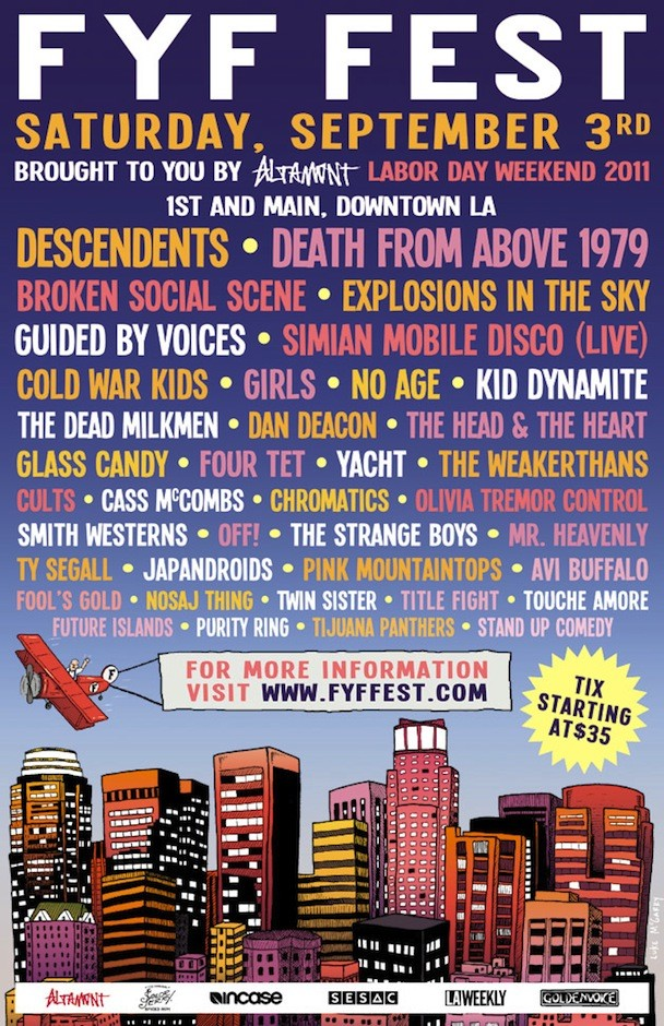 FYF Fest 2011 Lineup