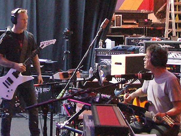 Lou Reed Recording With Metallica