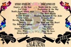 Treasure Island 2011 Lineup