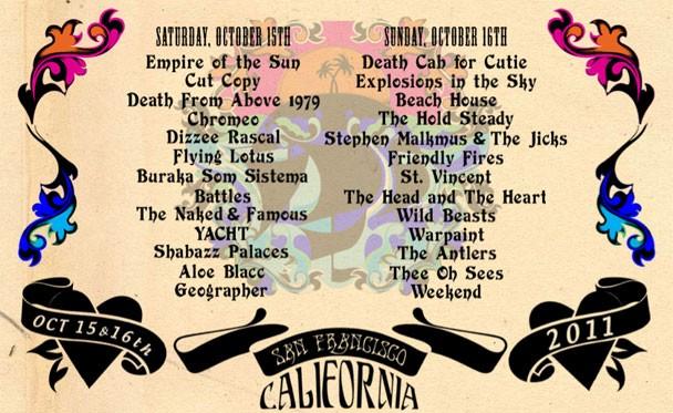 Treasure Island Festival 2011 Lineup