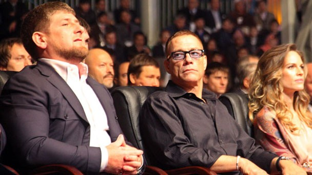 Belgian actor Jean-Claude Van Damme (C)