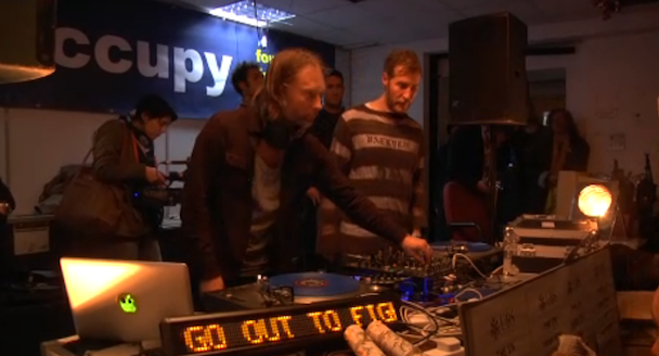 Thom Yorke DJs Occupy London