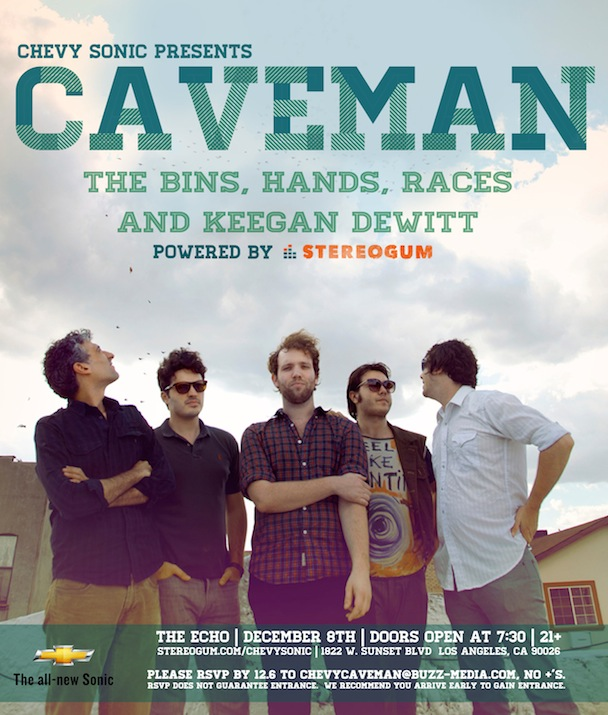 Stereogum Presents Caveman @ The Echo 12/8 — RSVP For Free Admission
