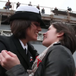 This Is A Nice Thing: Historic Navy First Kiss