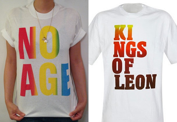 No Age vs Kings Of Leon Rainbow Shirts