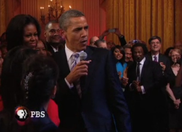 Obama Sings With Mick Jagger, B.B. King, Buddy Guy