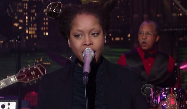 Erykah Badu on Letterman