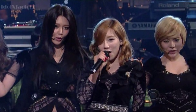 Girls' Generation on Letterman