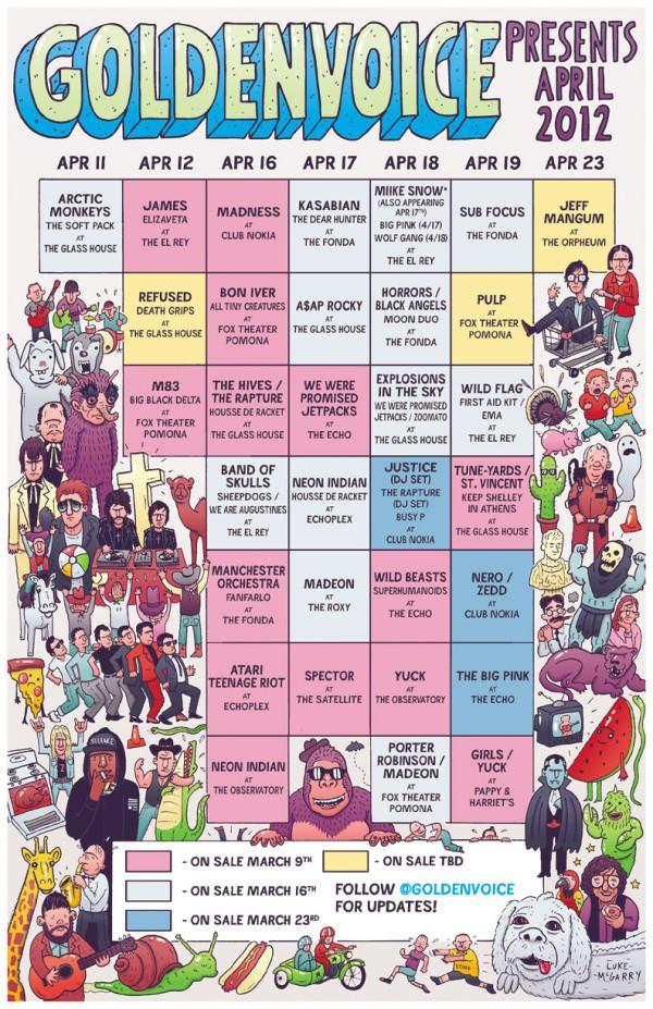 Coachella Sideshows 2012 Schedule