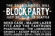 Capitol Hill Block Party 2012 Lineup