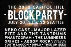 Capitol Hill Block Party Lineup 2012