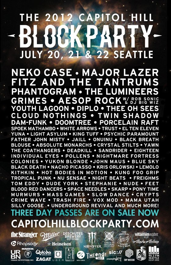 Capitol Hill Block Party Lineup 2012