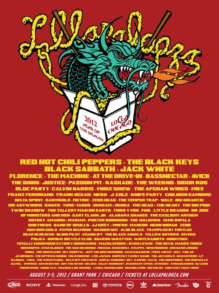 lollapalooza 2012 lineup stereogum