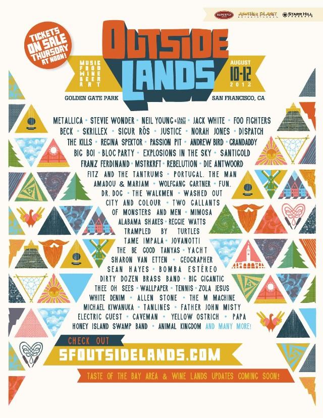 Outside Lands 2012 Lineup