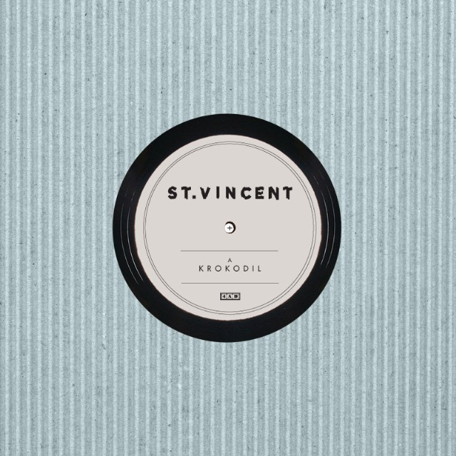 """St. Vincent - """"KROKODIL"""" b/w """"GROT"""""""
