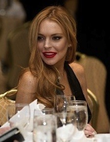 Lindsay Lohan attends the White House Co