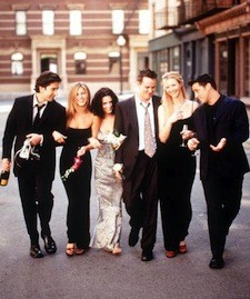 The Cast Of Friends 1999 2000 Season From L R: David Schwimmer Jennifer Aniston Courtney Cox Ar
