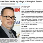 Attention Tom Hanks Fans Living In Hampton Roads Virginia Beach!
