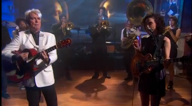 Watch David Byrne & St. Vincent On 'Colbert'