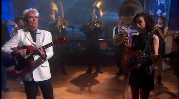 Watch David Byrne &#038; St. Vincent On <em>Colbert</em>