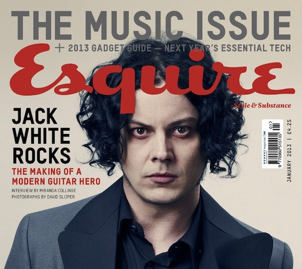 Jack White on the cover of Esquire UK's Music Issue