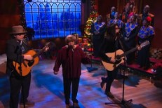 "Watch Jeff Tweedy, Mavis Staples &#038; Sean Lennon Cover ""Happy X-Mas (War Is Over)&#8221; On <em>Colbert</em>"