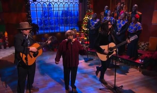 Jeff Tweedy, Mavis Staples, Sean Lennon On The Colbert Report