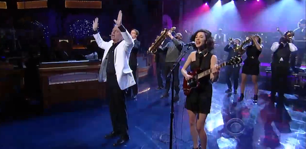 Watch David Byrne St Vincent On Letterman