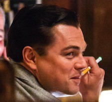 89214, NEW YORK, NEW YORK - Saturday January 12, 2013. HEALTHY SMOKER! Actor Leonardo DiCaprio is seen puffing away on his electronic cigarette and blowing out rings of smoke between takes while filming on his last day for new movie 'The Wolf of Wall Street' at Rao's Restaurant in East Harlem, New York. Photograph: ©PacificCoastNews.com **FEE MUST BE AGREED PRIOR TO USAGE** **E-TABLET/IPAD & MOBILE PHONE APP PUBLISHING REQUIRES ADDITIONAL FEES** LOS ANGELES OFFICE:+1 310 822 0419 LONDON OFFICE:+44 20 8090 4079